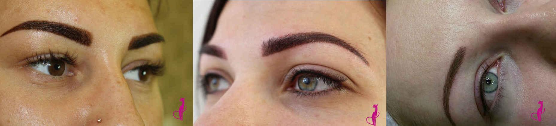 Перманентный макияж бровей при жирной коже