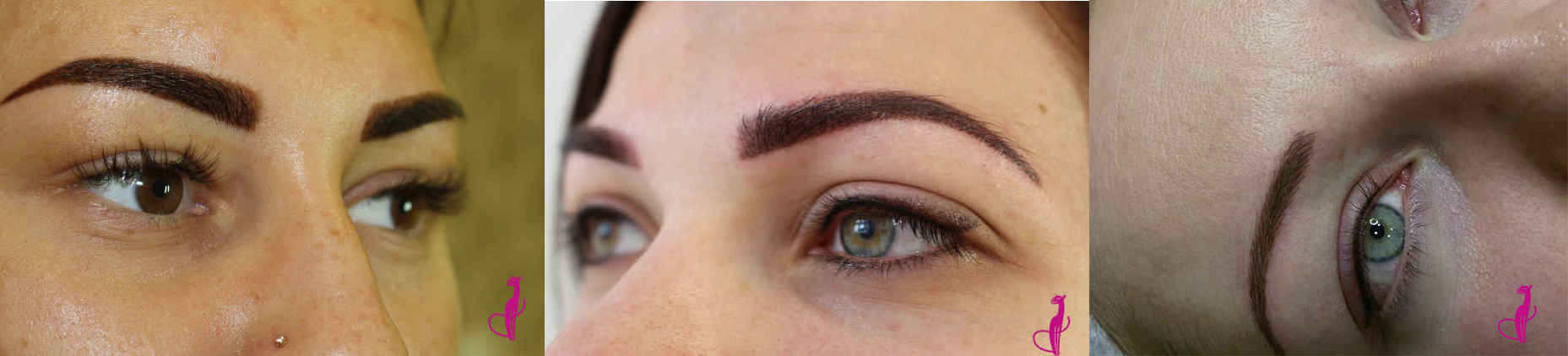 Перманентный макияж бровей: примеры работ студии «Розовая пантера»