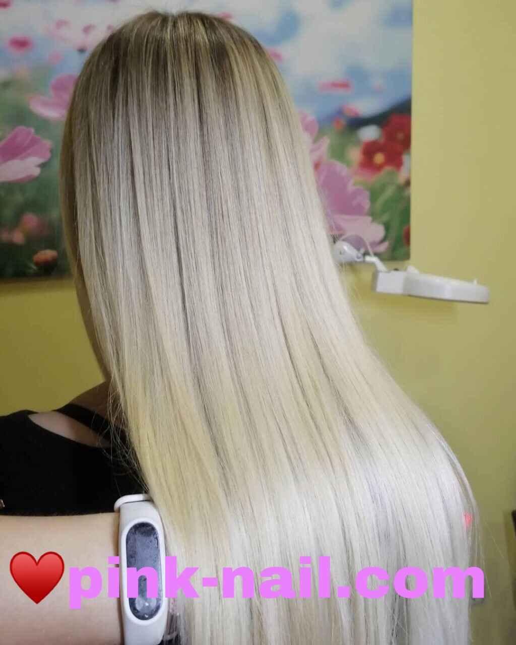 Окрашивание волос Минск airtouch Розовая пантера