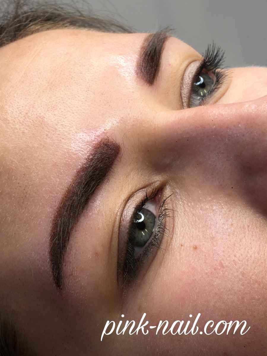 Профессиональный перманентный макияж бровей Минск