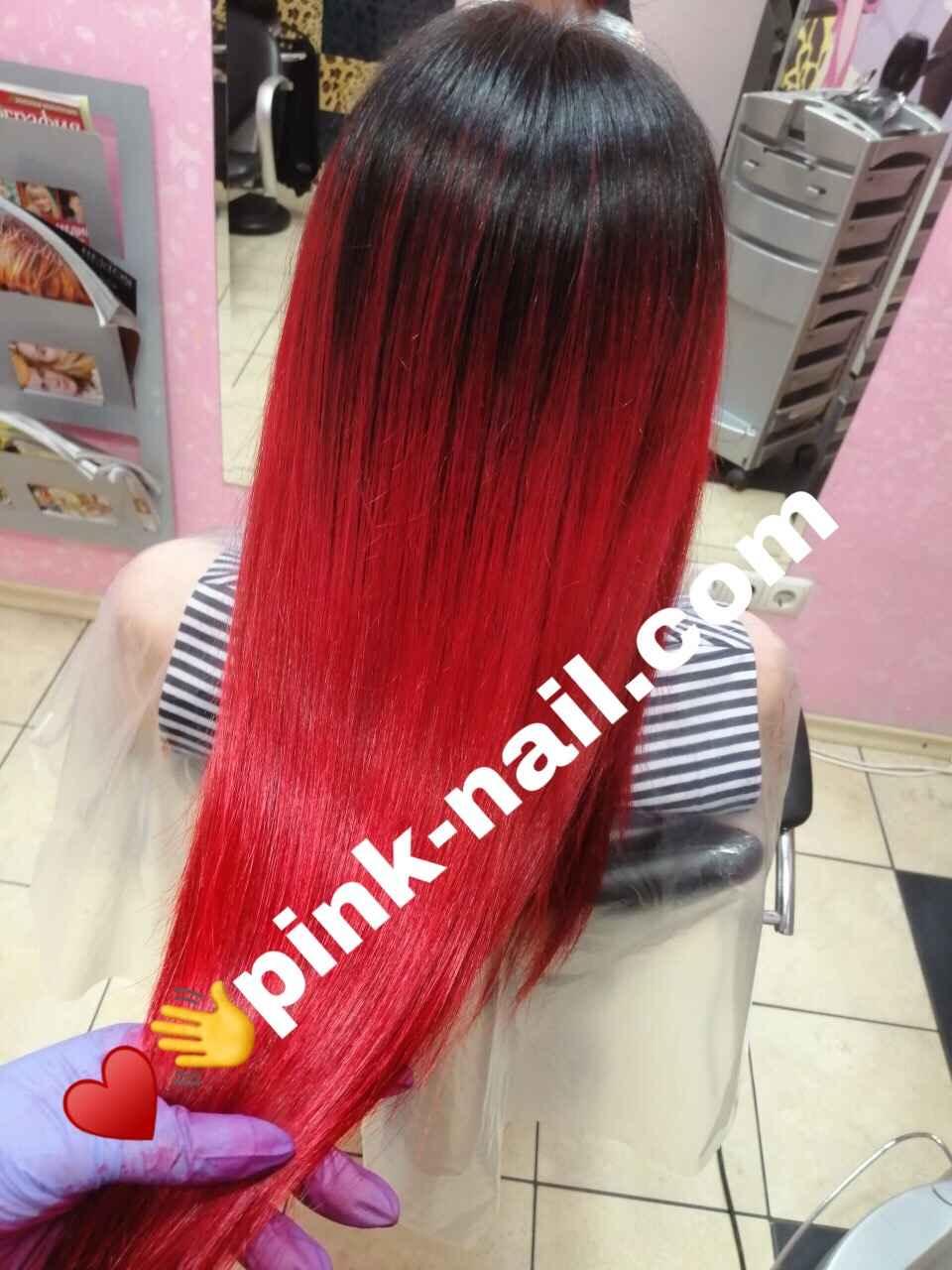 профессиональное окрашивание волос студия Розовая пантера Минск