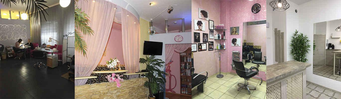 Интерьер студии маникюра «Розовая пантера»