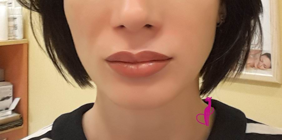 Перманентный макияж губ салон Розовая пантера Минск