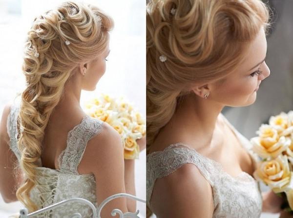 Прическа свадебная для невесты