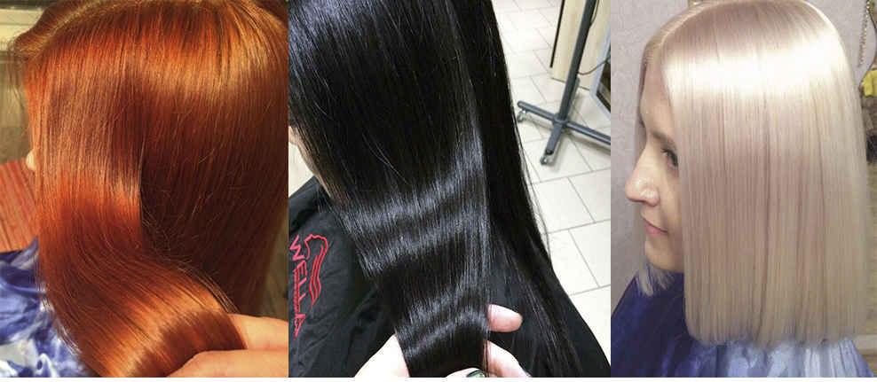 Красота и насыщенный цвет волос разных цветов