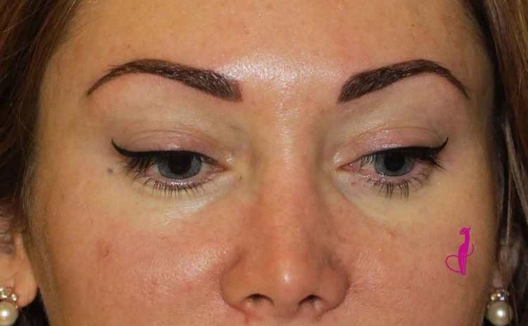 Брови волосковый метод + стрелки