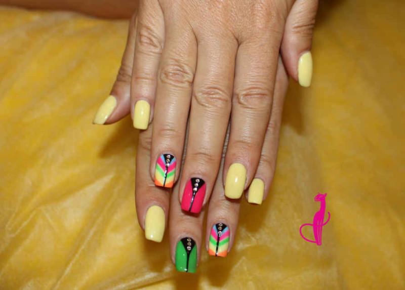наращивание ногтей Розовая пантера Минск